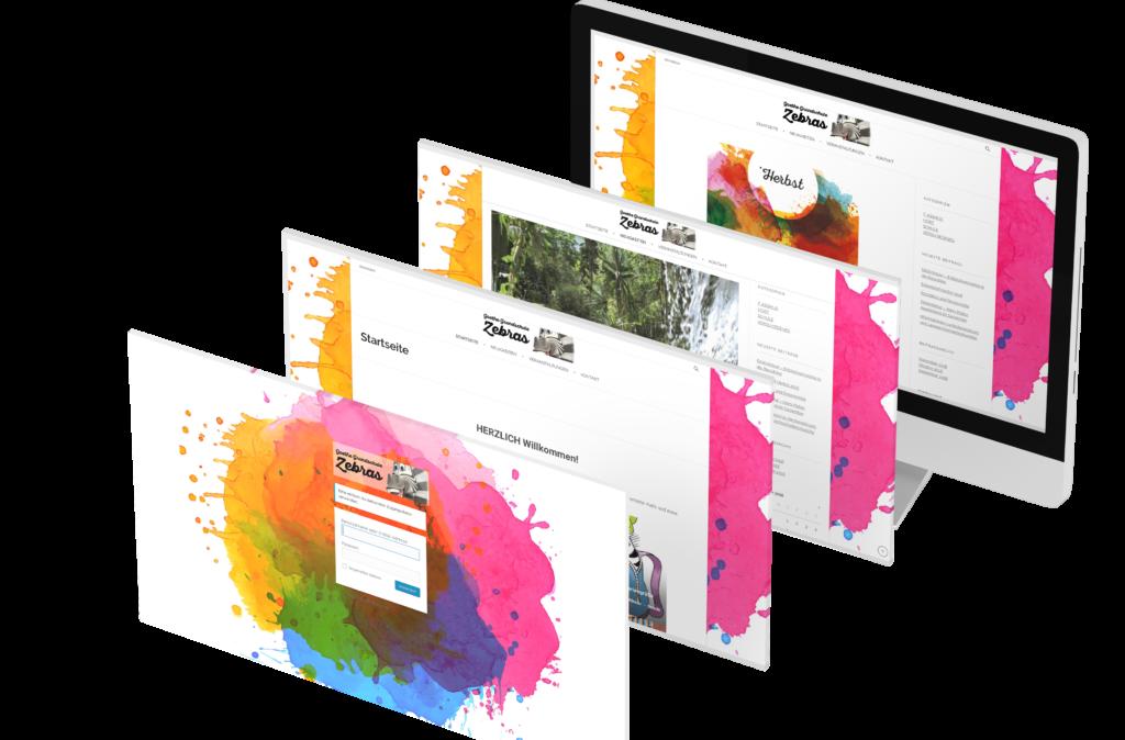 Portfolio - GS-Zebras - Homepage © Web-Kreativ WordPress Webdesign Manufaktur