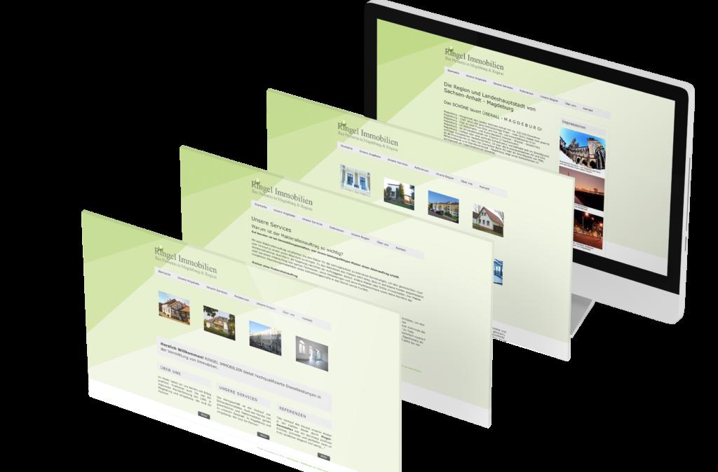 Portfolio - Ringel Immobilien - Homepage © Web-Kreativ WordPress Webdesign Manufaktur