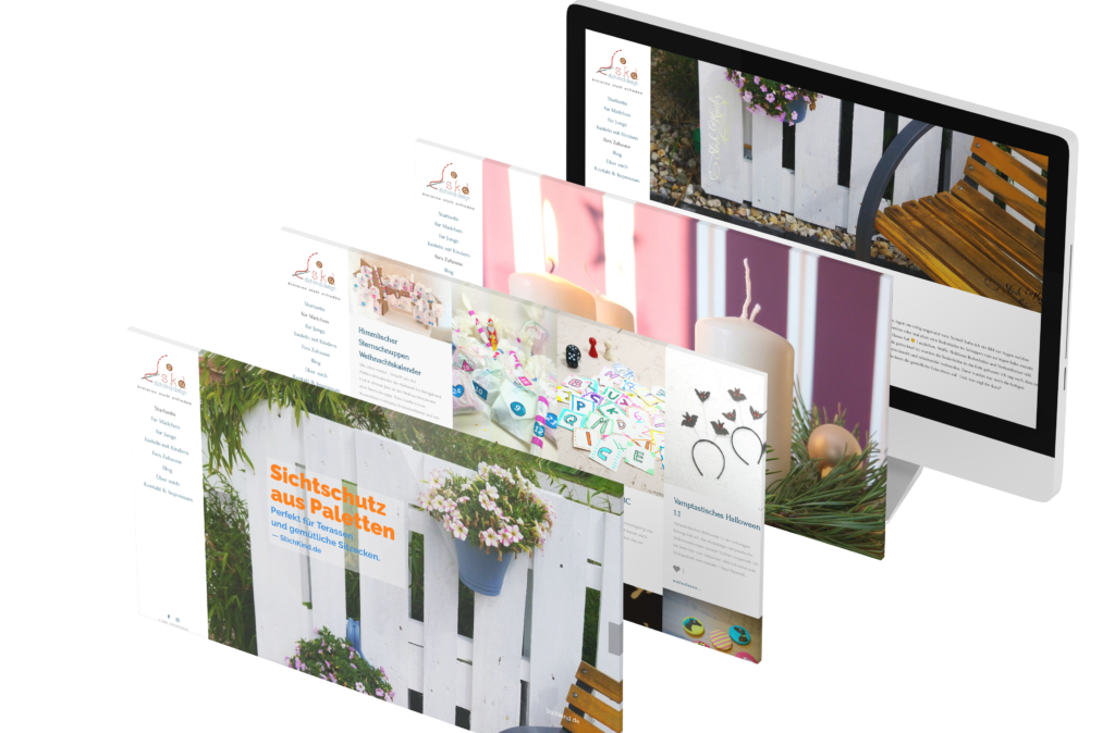 Portfolio - Stichkind - Homepage © Web-Kreativ WordPress Webdesign Manufaktur