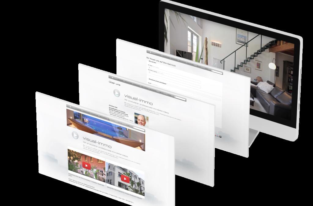 Portfolio - Visual-Immo - Homepage © Web-Kreativ WordPress Webdesign Manufaktur