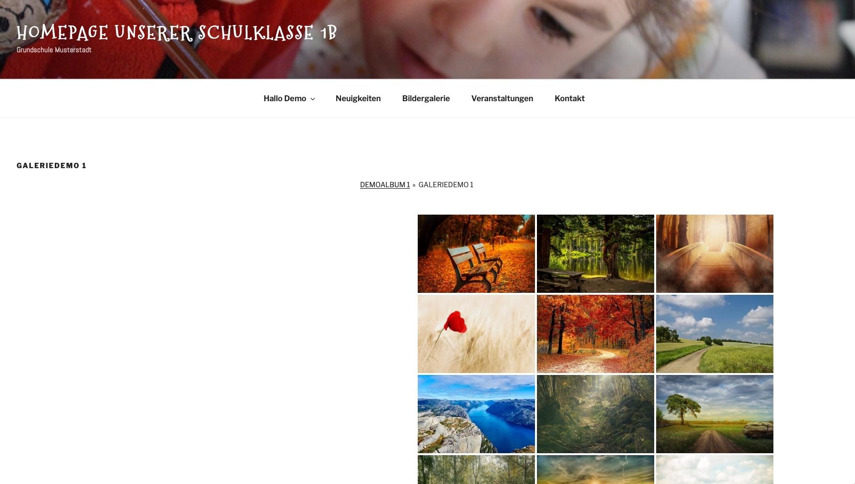 Klassenhomepage für Schulklassen - Bildergalerie © 2019 Web-Kreativ WordPress Webdesign Manufaktur
