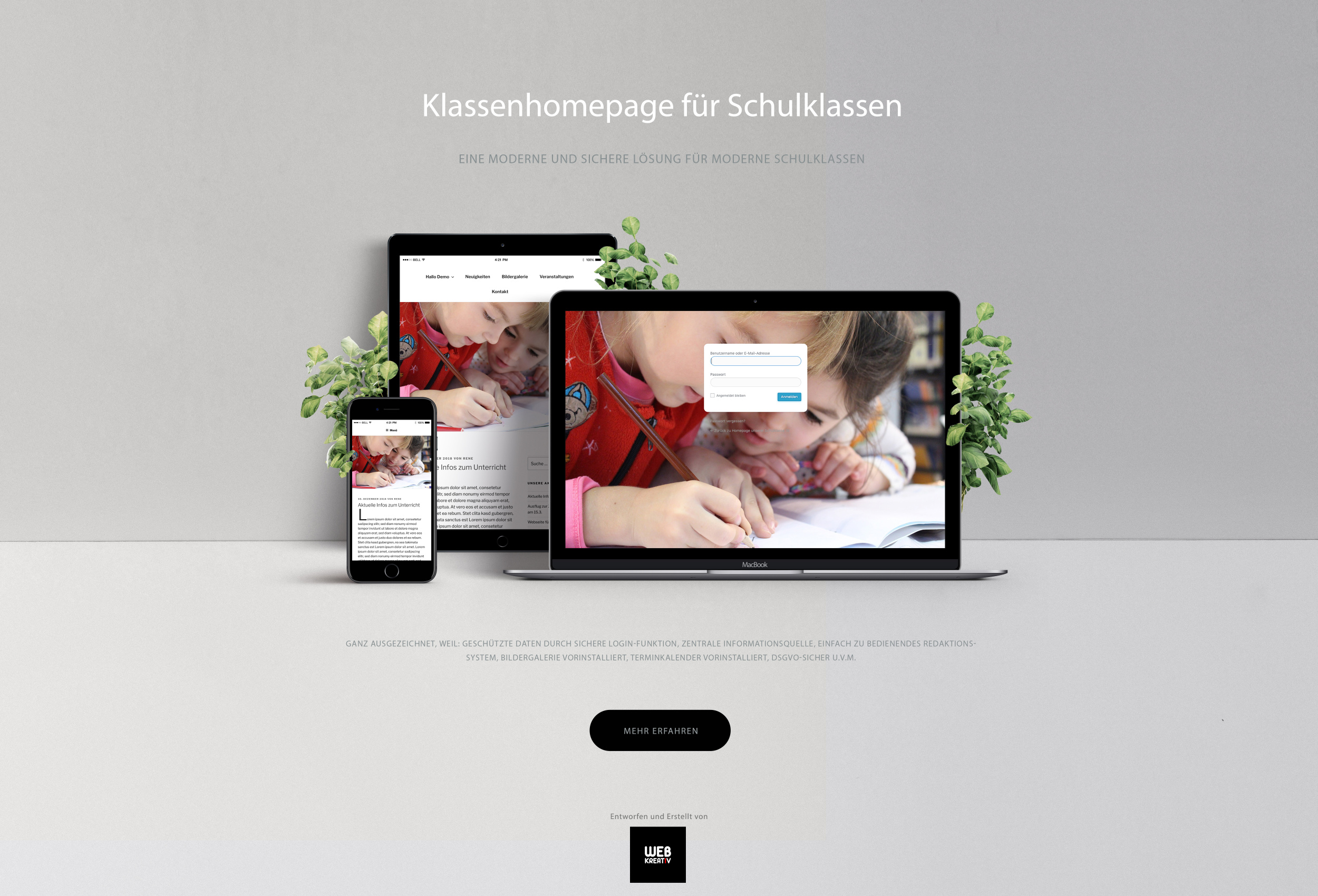 Klassenhomepage - Showcase - Web-Kreativ WordPress Webdesignmanufaktur